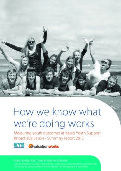 Cover - Kapiti Youth SupportImpact evaluation - Summary report 2013